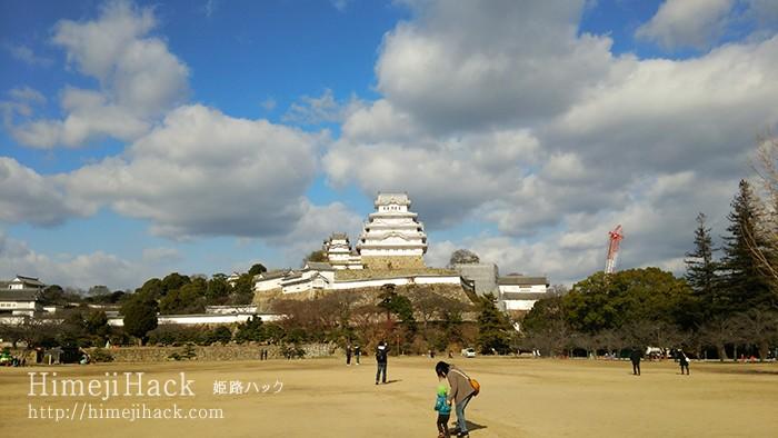 姫路城の三の丸広場