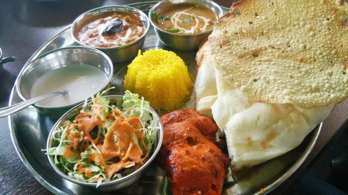 姫路のランチ、インド料理の「スペシャルセット」